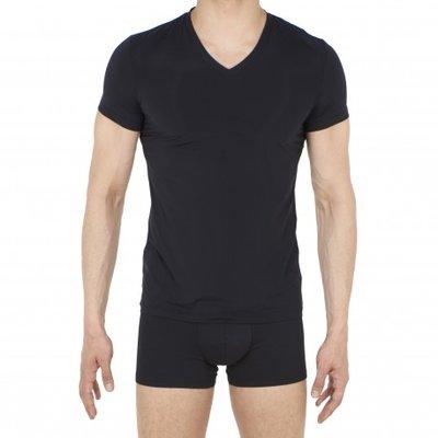 V-neck Plumes T-shirt Black