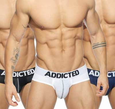 AD475 3 Pack Mesh Brief Push Up