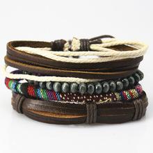 Set van 4 stuks armband met kralen en amulet