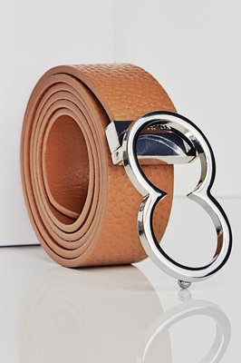 BL10 Leather Icon Belt Tan