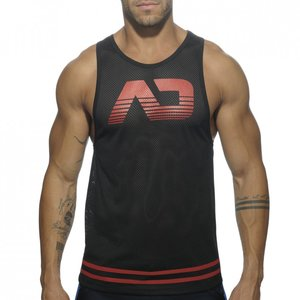 AD492 FETISH AD MESH TANK TOP RED